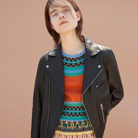 秋の着こなしをアップデートする、 「TICCA」のダブルライダースジャケット